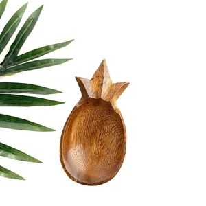 Small Wooden Pineapple Dish / Trinket Tray